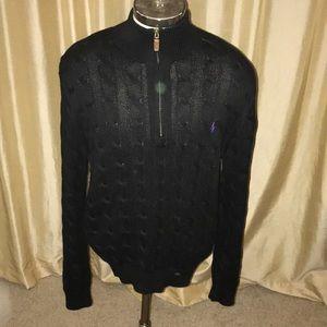 Men's Polo Ralph Lauren Black Pullover Size Large